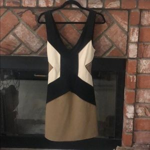 Bardot crisscrossed open back bodycon dress
